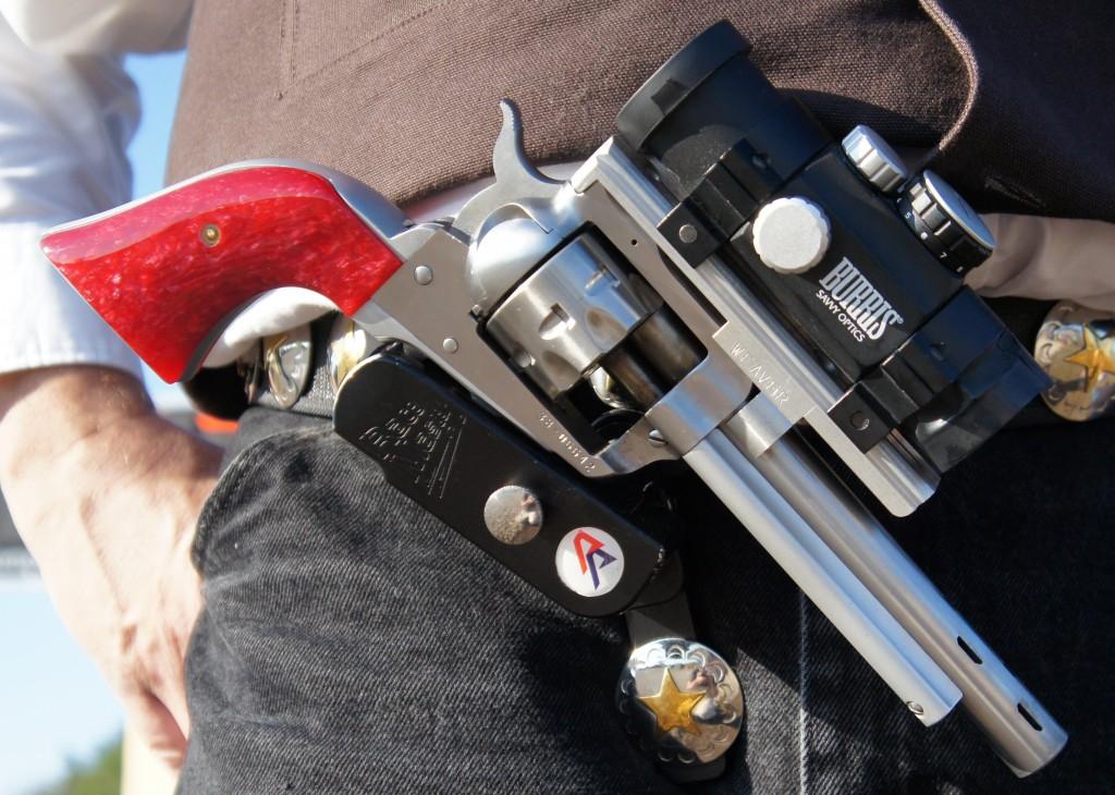 single action open gun