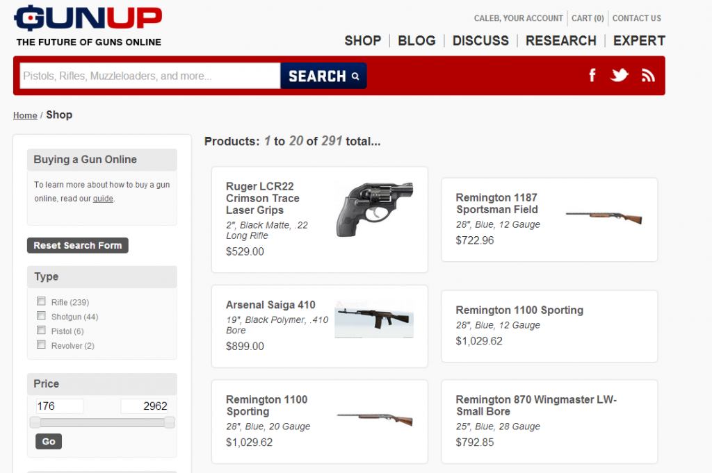 gunup shop screen