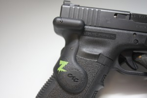 Crimson Trace laser unit for the 3rd Generation Glock pistol...Zombie edition.
