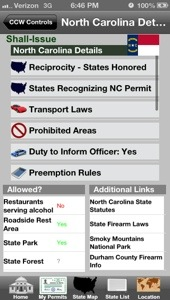 CCW App for NC carry laws