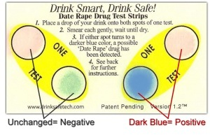 drink safe drug test card