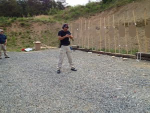 Robert Vogel instructing on the range