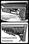 Magpul and Command Arms Rifle Stock for AR 15