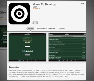 NSSF Where to Shoot App screen shot