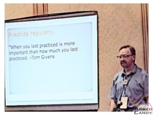 Claude Warner speaks at Georgia Carry.org convention about self-guided practice