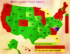 states accepting a South Carolina carry permit