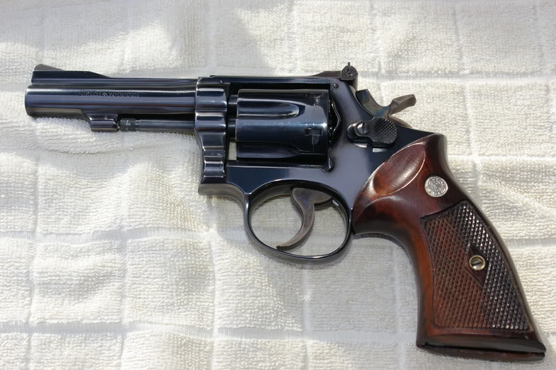 One of the most sought-after DA .22 revolvers, the S&W Model 18