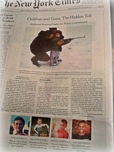 New York Times article, kids accidentally shot by gun found in home