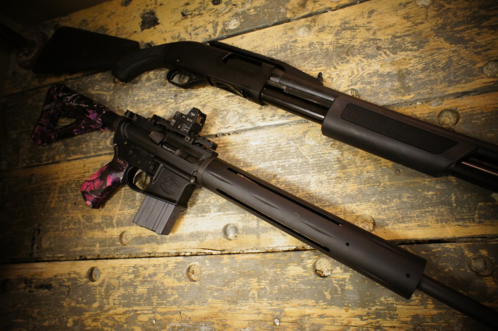 FNH P-12 vs. Colt Sporting Rifle
