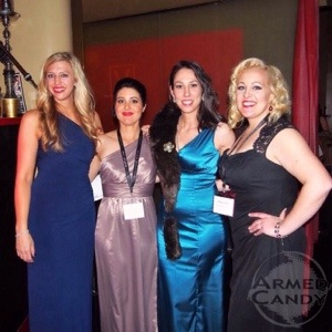 Natalie Foster, Jacquelyn Kelley Gabby Marcuus and Britney Starr at women's dinner at SHOTShow