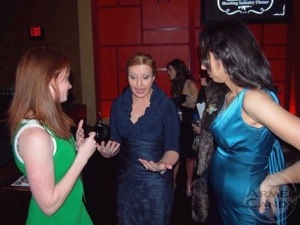 Shelley Rae, Julie Golob and Gabby Marcuus at women's dinner at SHOTShow
