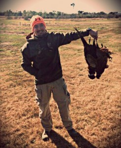caleb with pheasants