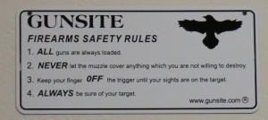 gunsite four rules
