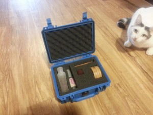 More bonus tips: A pelican case can protect your expensive make-up products, and don't ever pack a cat for a shooting competition, they are worthless on the range.
