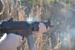 The H&K MP5 chambered in .40 S&W is accurate, controllable, has almost no recoil, and would be superb for home defense.