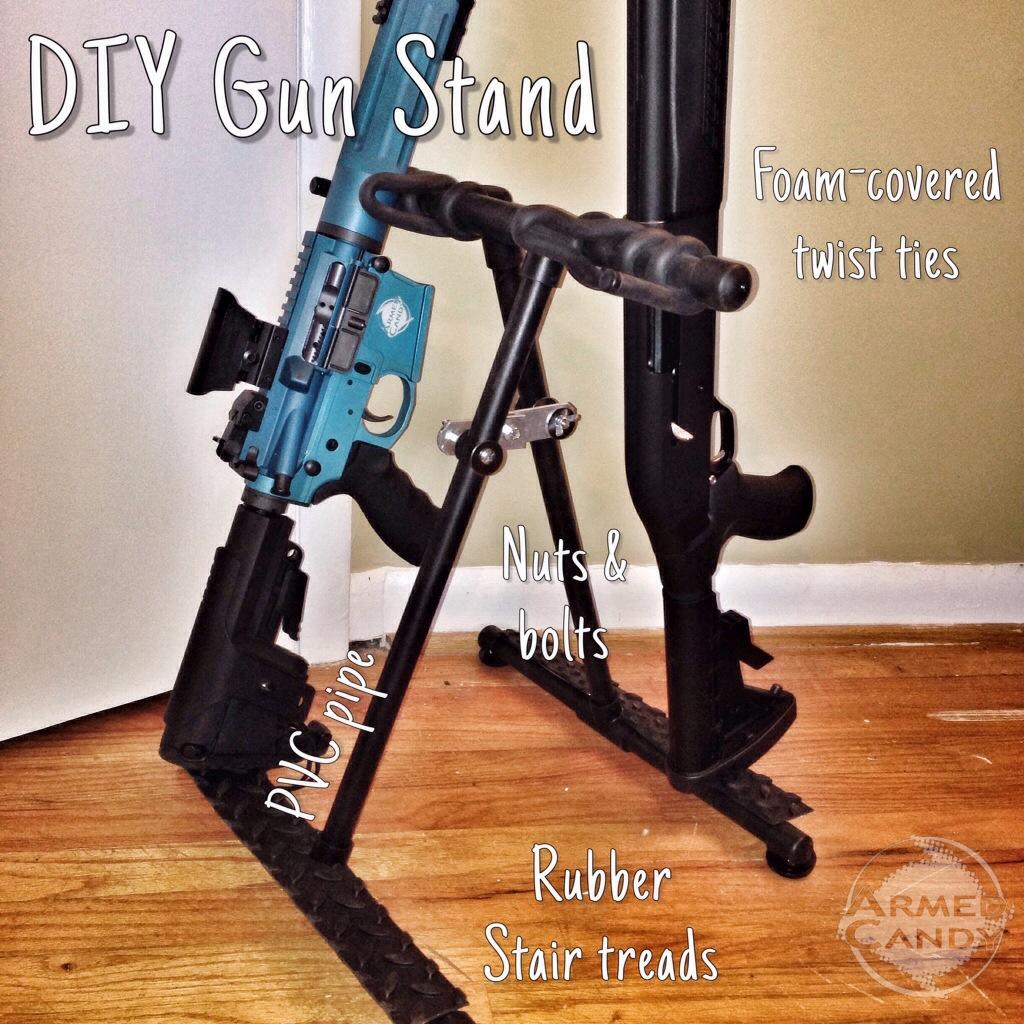 diy folding gun stand gun nuts media. Black Bedroom Furniture Sets. Home Design Ideas