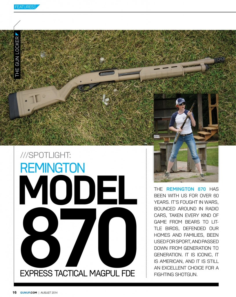 remington 870 gunup the magazine
