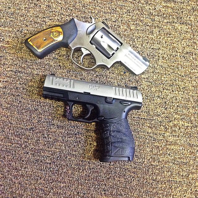 Walther CCP and Ruger GP100