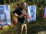 "Greg Ellifritz, the brains behind Active Response Training, demonstrates the ""#2"" position with a SIRT gun."