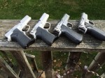 The 6946, 6906, and two 5906 pistols.