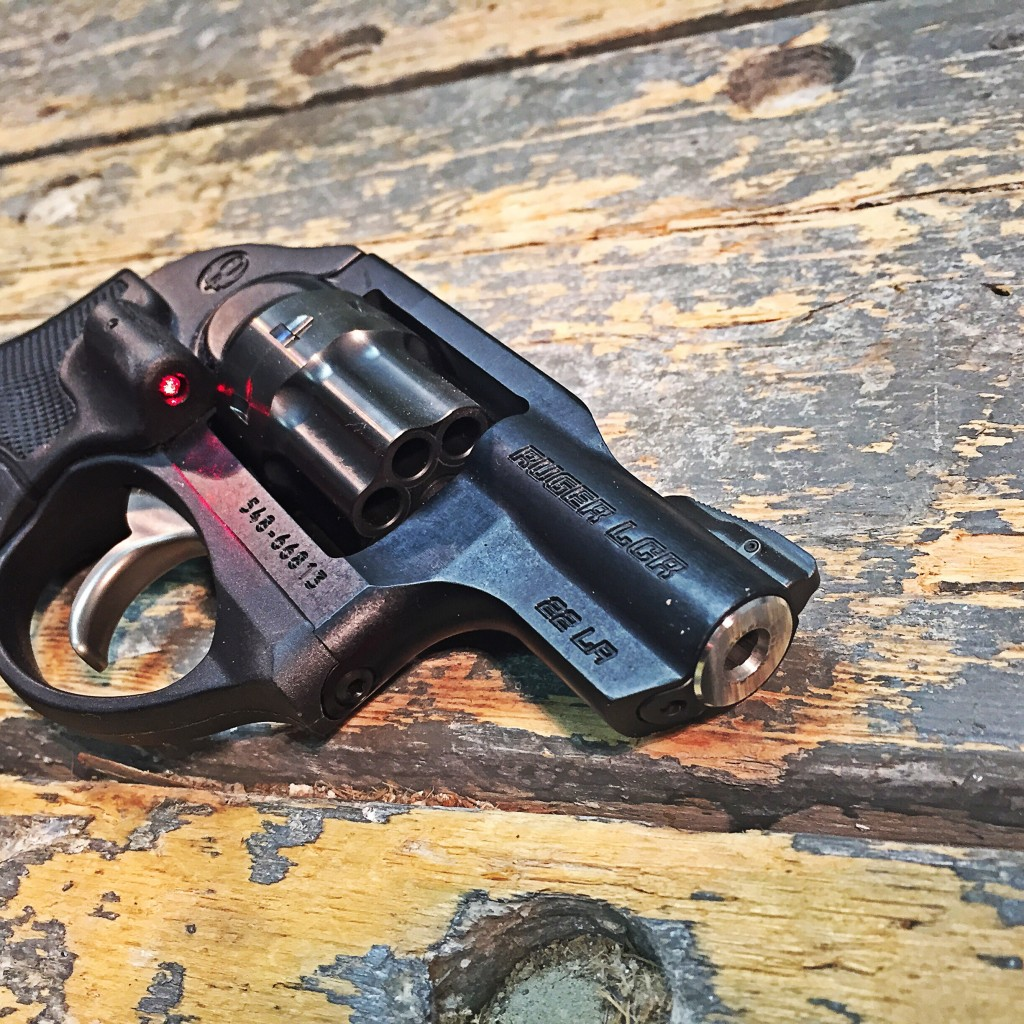 Ruger LCR 22 with laser activated