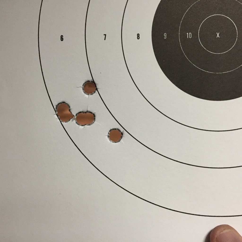 AmEag 158 grain JSP Magnum 1.4 inches