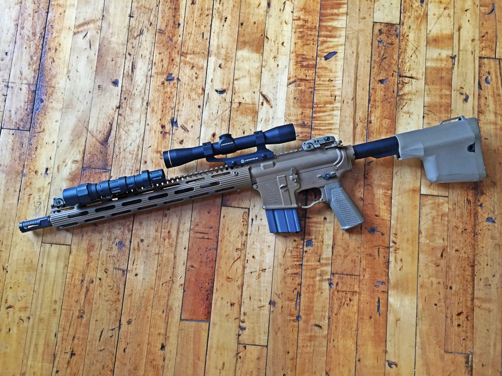 Troy defense Lamb carbine with Leupold scout scope