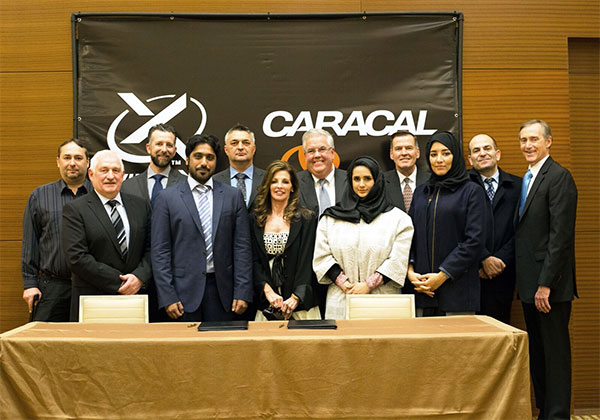 Senior officials from Caracal, the Emirates Defence Industries Company (EDIC) and Wilcox Industries.