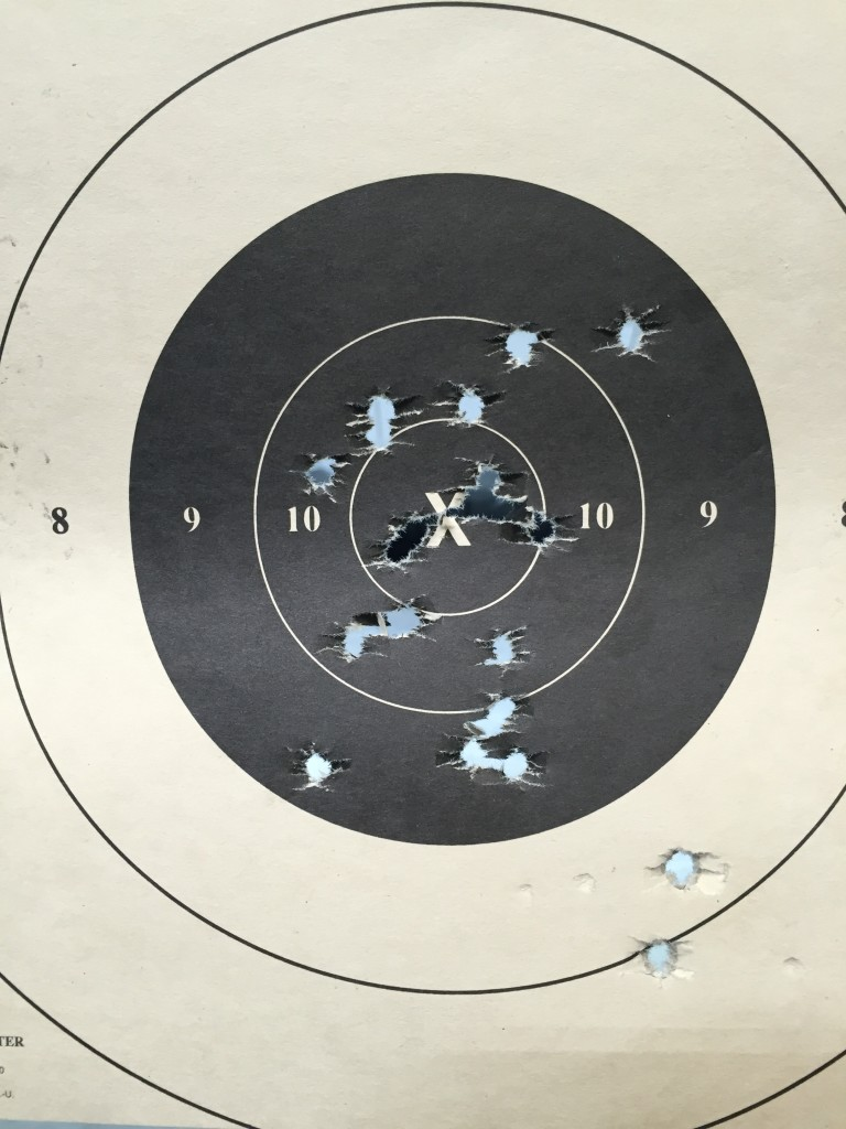 Rock Ultra FS 9mm 20 shots timed fire 25 yards