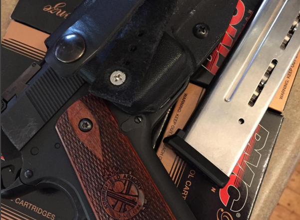springfield 1911 in shaggy aiwb with PMC 9mm