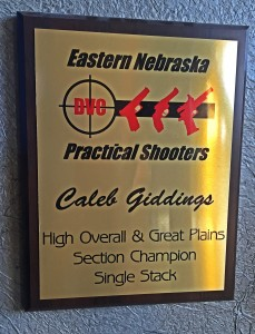 Great Plains Sectional Single Stack Champion plaque